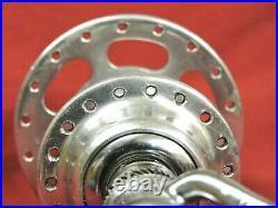 1980 Campagnolo Hi Lo Nuovo Super Record 36 Holes Rear Hub & Skewer 1.37x24 Eng