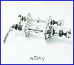 CAMPAGNOLO RECORD HUBS SET 70s 80s vintage nuovo super front rear 32h holes pair