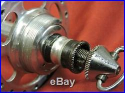 Campagnolo 1035 Nuovo Super Record High Large Flange Hubs & Skewers 36H Italian