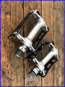 Campagnolo Pedals Record 1037 Strada Super Black 9/16 x 20 Vintage