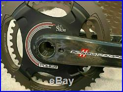 Campagnolo SRM crankset 172.5mm 52/36 new battery power meter super record
