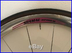 Campagnolo Shamal Titanium Wheelset Super C Record VGC De Rosa Pista Vento Zonda