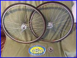 Campagnolo Super Nuovo Record high flange hubs Mavic rims wheel set