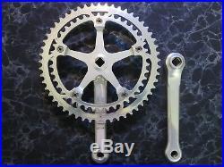 Campagnolo Super Record Crankset Non-Fluted 172.5mm 53/42 Vintage Road Bike