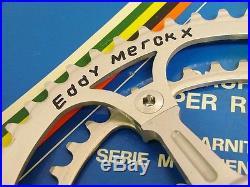 Campagnolo Super Record Crankset Strada 170 54/42 Eddy Merckx Nos