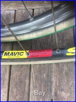Campagnolo Super Record Hubs Mavic Sup Rims Pair Of Wheels