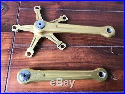 Campagnolo Super Record Strada Kurbel 1982 Set Crank Arms f. Masi Gold BMX Oro