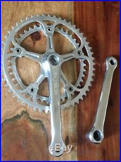Campagnolo Super Record no flute arm Polished crankset 42/53, 175mm Kurbel Crank