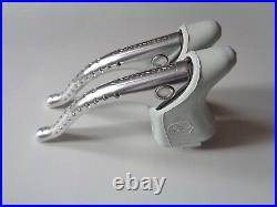 NOS Vintage 1980s Campagnolo Super Record brake levers with white hoods