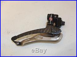 Nice Used Campagnolo Super Record Carbon 11 Speed Front Derailleur Braze-On