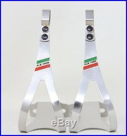Nos Ale 90/l Toe Clips Inox Steel Campagnolo Super Record Quill Pedals Size XL