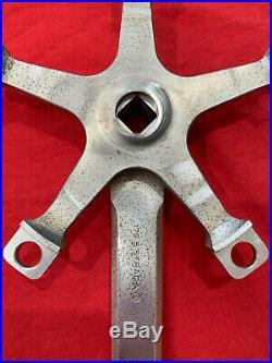 RARE Campagnolo Super Record crank arms 172.5mm 1980s Nuovo Record square taper