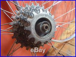 Rare vintage Campagnolo tubular hubs super record rims Wheels 8 spd maillard