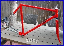 Super! 52cm Steel Cinelli Pista Olympic track frameset Campagnolo Record Corsa