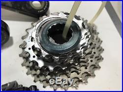 Used Campagnolo Super Record group set 11 speeds system without rear derailleur