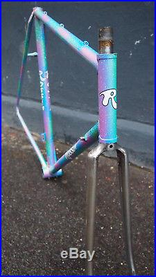 VGC Rossin Record frameset Columbus SL super funky paint 100/126 Campagnolo