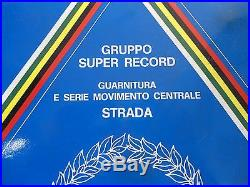 Very Rare! Campagnolo Super Record Strada Mexico crankset NOS