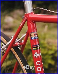 Vintage Colnago Super Bike 49-51cm 1980s Campagnolo Super Record Mavic Cinelli