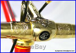Vintage LUXURY RARE RACE BIKE SOMEC CAMPAGNOLO SUPER RECORD GOLD PLATED